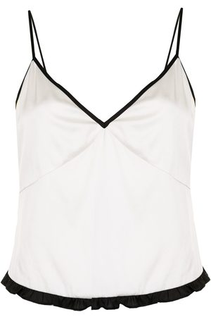 FLEUR DU MAL Two-tone sleeveless tank top
