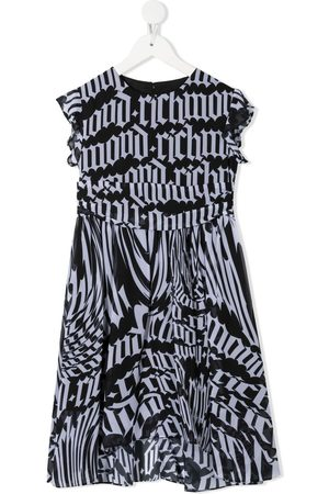 John Richmond Junior Logo-print cotton dress
