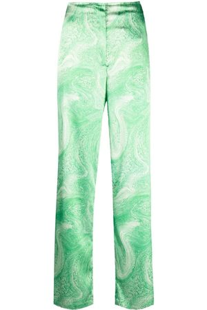 Opening Ceremony Marble-effect straight-leg trousers