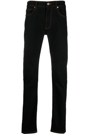 VERSACE Men Straight - Straight-leg logo patch jeans