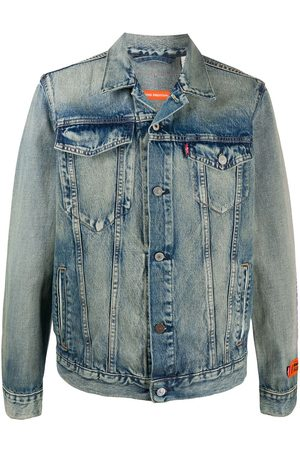 Heron Preston Men Denim Jackets - Denim buttoned jacket