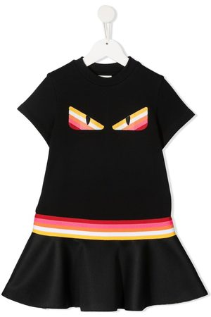 Fendi Girls Casual Dresses - Graphic-print T-shirt dress