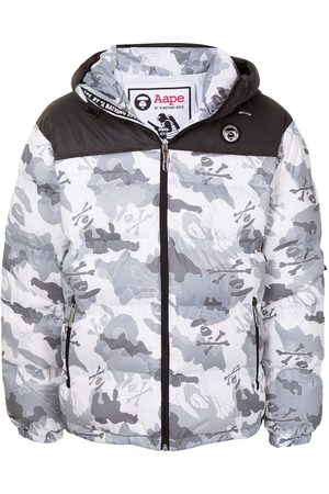 AAPE BY A BATHING APE Men Puffer Jackets - Camouflage-print padded jacket