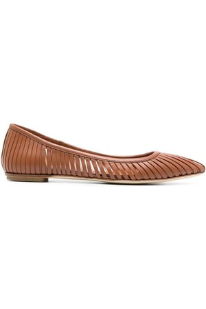 ROBERTO DEL CARLO Women Flat Shoes - Cut-out slip-on flat pumps - LEATHER