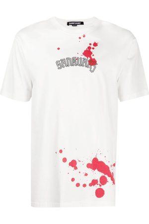 SANKUANZ Logo-print graphic T-shirt