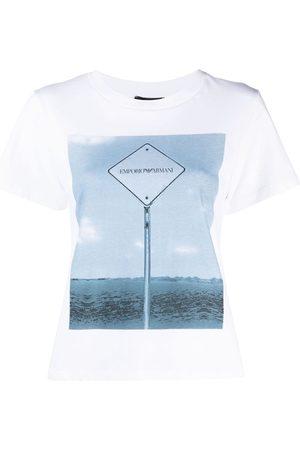 Emporio Armani Graphic logo-print T-shirt