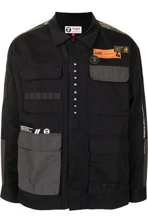 AAPE BY A BATHING APE Logo patch shirt jacket