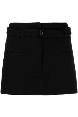 Serafini Adjustable belted waist miniskirt