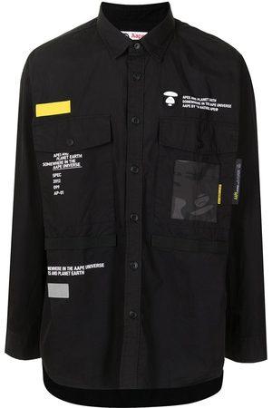 AAPE BY A BATHING APE Logo button-down shirt