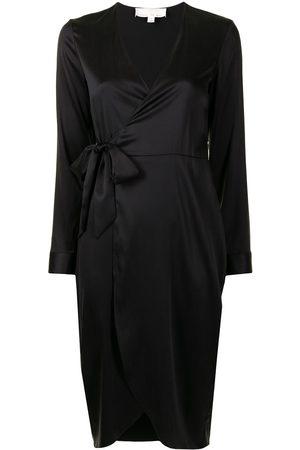 FLEUR DU MAL Women Bathrobes - Wrap-tie stretch silk robe
