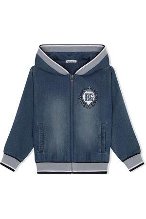 Dolce & Gabbana Crest-embroidered jacket