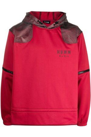 U.P.W.W. Contrast-panel zip-off sleeves hoodie