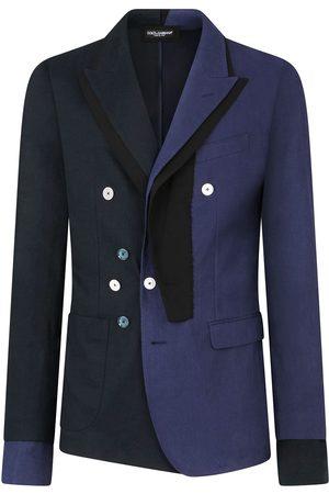 Dolce & Gabbana Two-tone button-detail blazer