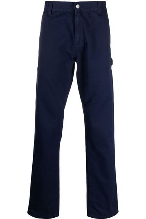 Carhartt Men Straight Leg Pants - Logo-patch straight-leg trousers