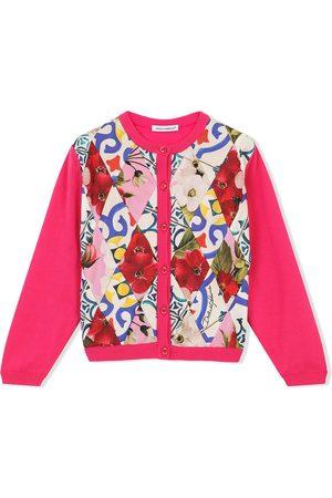 Dolce & Gabbana Floral-print panelled cardigan