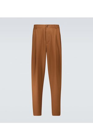 King and Tuckfield Men Pants - Pleated wool pants