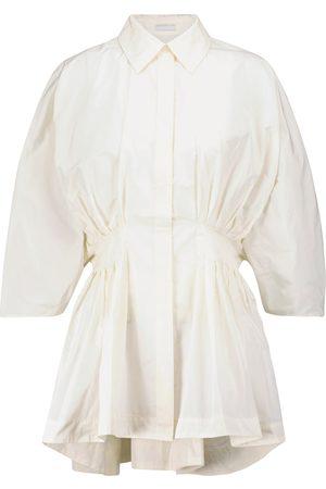 CO Peplum taffeta shirt