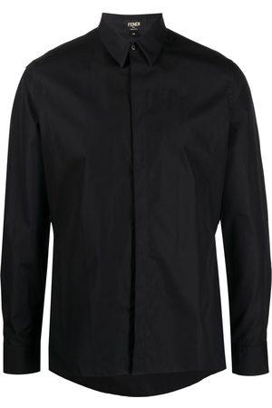 Fendi Long-sleeved cotton shirt