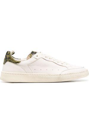 Officine creative Women Sneakers - Kareem snakeskin-effect leather sneakers - Neutrals