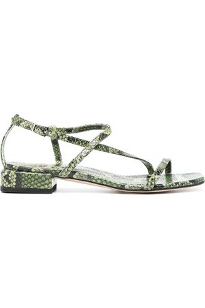 Officine creative Women Sandals - Snake print sandals