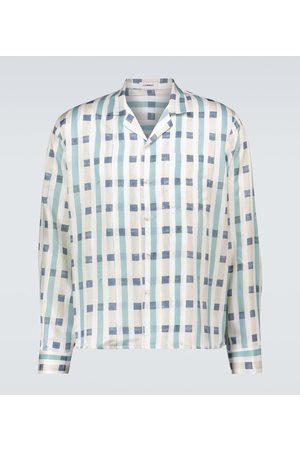 COMMAS Printed silk-cotton shirt