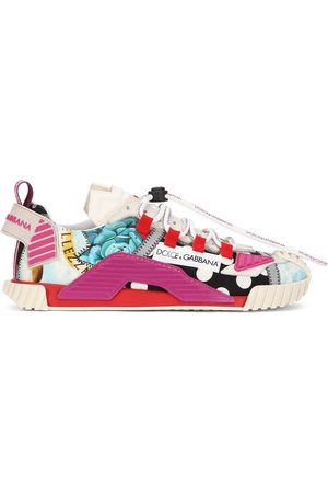 Dolce & Gabbana Women Sneakers - NS1 multi-patch low-top sneakers