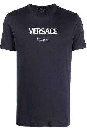 VERSACE Men Short Sleeve - Logo-print short-sleeve T-shirt