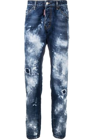 Dsquared2 Men Straight - Acid-wash straight-leg jeans