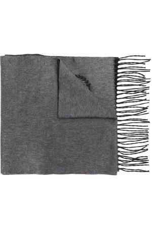 Dolce & Gabbana Men Scarves - Logo-embroidered fringed scarf - Grey
