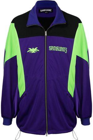 SANKUANZ Bomber Jackets - Logo-embroidered panelled jacket