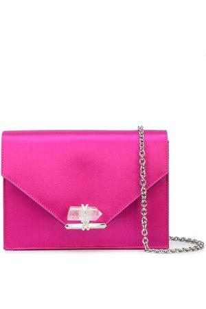Marchesa Women Shoulder Bags - Satin-effect quartz crystal shoulder bag