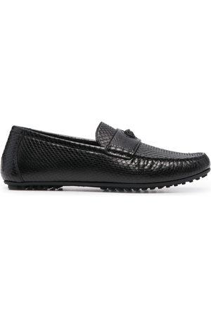 VERSACE Medusa crocodile-effect loafers