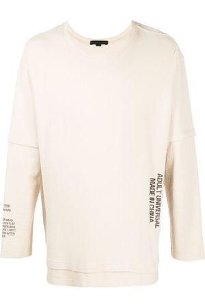 SANKUANZ Sweatshirts - Slogan-print cotton sweatshirt - Neutrals