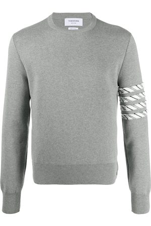 Thom Browne Men Sweatshirts - 4-Bar stripe jumper - Grey