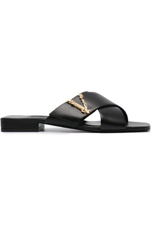 VERSACE Women Sandals - Virtus slide sandals