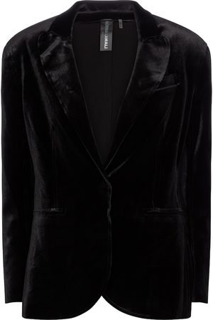 Norma Kamali Women Blazers - Single-breasted velvet blazer