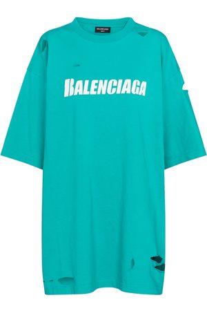 Balenciaga Logo cut-out cotton T-shirt
