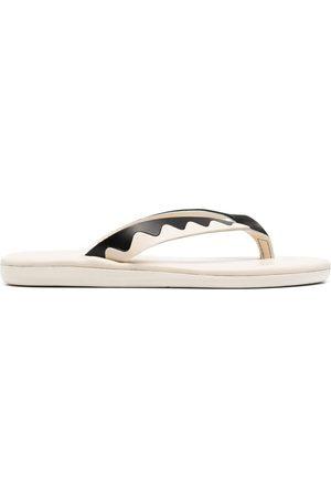 Ancient Greek Sandals Ammos zig-zag band flip-flops