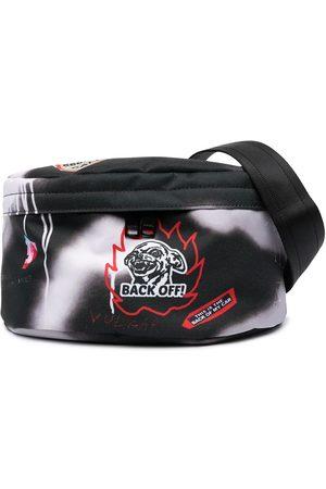 Diesel Graffiti and logo print belt bag