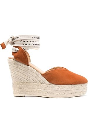 Serafini Women Wedges - X Manebì logo-tie wedge espadrilles