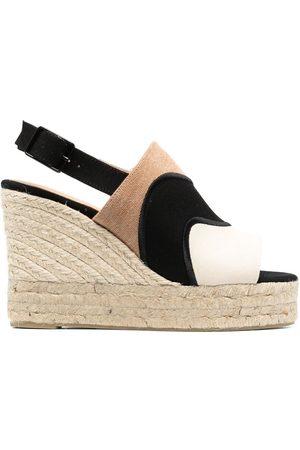 Castañer Colour-block wedge-heel espadrilles - Neutrals