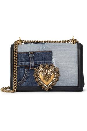 Dolce & Gabbana Medium Devotion denim shoulder bag