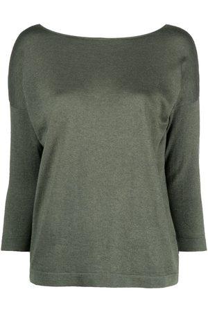 SNOBBY SHEEP V-back silk-blend jumper