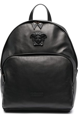 VERSACE Men Rucksacks - Medusa plaque backpack