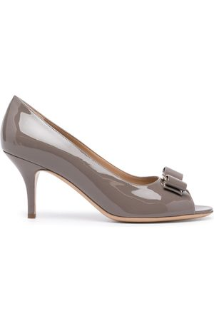 Salvatore Ferragamo Lapua Vara 70mm sandals - Grey
