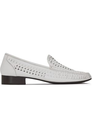 Saint Laurent Men Loafers - Interwoven-design round-toe loafers