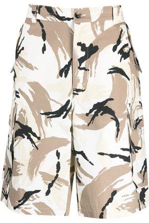 Kenzo Men Bermudas - Camouflage cargo Bermuda shorts