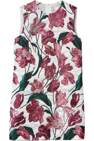 Carolina Herrera Women Party Dresses - Floral-print jacquard shift dress