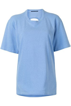 Proenza Schouler Women T-shirts - Cut-out crew-neck T-shirt - SKY
