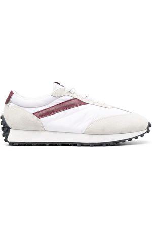 Doucal's Men Sneakers - Leather-trim low-top sneakers